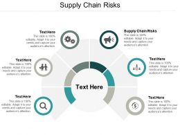 Supply Chain Risks Ppt Powerpoint Presentation Outline Background Designs Cpb