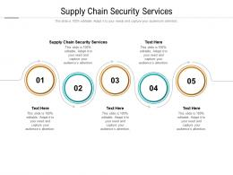 Supply Chain Security Services Ppt Powerpoint Presentation Infographic Template Layout Ideas Cpb