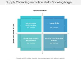 Supply Chain Segmentation Matrix Showing Large Small And Medium Volume Orders