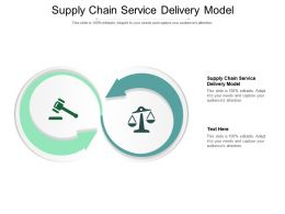 Supply Chain Service Delivery Model Ppt Powerpoint Presentation Styles Show Cpb