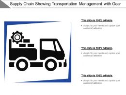 Supply Chain Showing Transportation Management With Gear