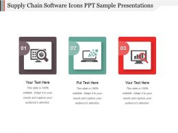 Supply Chain Software Icons Ppt Sample Presentations