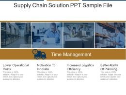 Supply Chain Solution Ppt Sample File