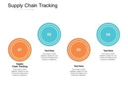 Supply Chain Tracking Ppt Powerpoint Presentation Professional Infographics Cpb