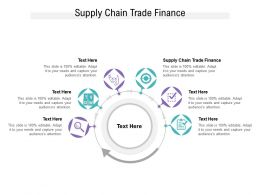Supply Chain Trade Finance Ppt Powerpoint Presentation Infographics Graphics Pictures Cpb