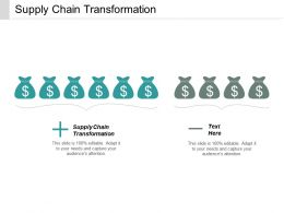 Supply Chain Transformation Ppt Powerpoint Presentation Ideas Designs Cpb