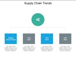 Supply Chain Trends Ppt Powerpoint Presentation Show Icon Cpb