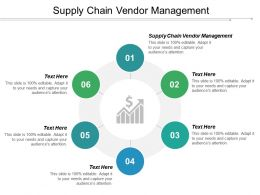 Supply Chain Vendor Management Ppt Powerpoint Presentation Pictures Slide Cpb