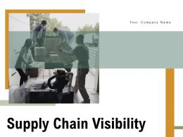 Supply Chain Visibility Vision Services Technical Architecture Functionality