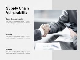 Supply Chain Vulnerability Ppt Powerpoint Presentation Portfolio Guide Cpb