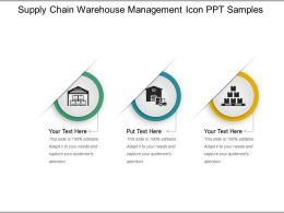Supply Chain Warehouse Management Icon Ppt Samples