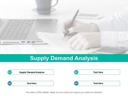 Supply Demand Analysis Ppt Powerpoint Presentation Show Gallery Cpb