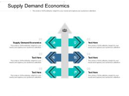 Supply Demand Economics Ppt Powerpoint Presentation Professional Format Ideas Cpb