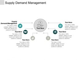 Supply Demand Management Ppt Powerpoint Presentation Professional Template Cpb
