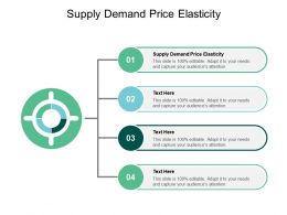 Supply Demand Price Elasticity Ppt Powerpoint Presentation Inspiration Cpb