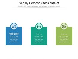 Supply Demand Stock Market Ppt Powerpoint Presentation Infographic Template Rules Cpb