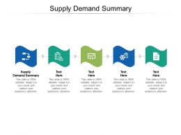 Supply Demand Summary Ppt Powerpoint Presentation Pictures Display Cpb