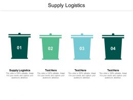 Supply Logistics Ppt Powerpoint Presentation Summary Display Cpb