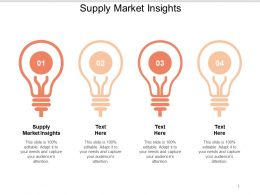 Supply Market Insight Ppt Powerpoint Presentation Pictures Design Inspiration Cpb