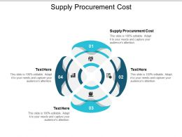 Supply Procurement Cost Ppt Powerpoint Presentation Show Skills Cpb