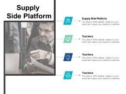 Supply Side Platform Ppt Powerpoint Presentation Summary Designs Cpb