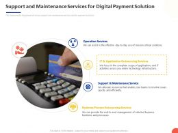 Support And Maintenance Services For Digital Payment Solution Ppt Powerpoint Presentation Structure