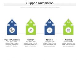 Support Automation Ppt Powerpoint Presentation Icon Microsoft Cpb