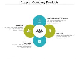 Support Company Products Ppt Powerpoint Presentation Slides Skills Cpb
