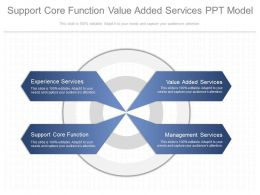 Support Core Function Value Added Services Ppt Model