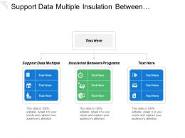 Support Data Multiple Insulation Between Programs Insulation Program