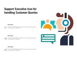 Support Executive Icon For Handling Customer Queries
