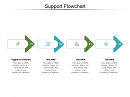 Support Flowchart Ppt Powerpoint Presentation Model Icon Cpb