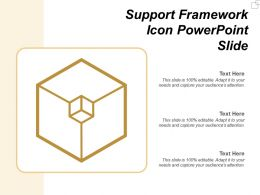 Support Framework Icon Powerpoint Slide