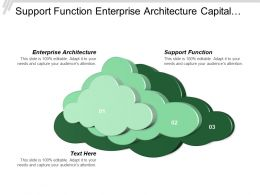 Support Function Enterprise Architecture Capital Planning Budget Management
