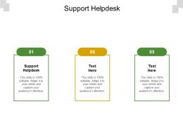 Support Helpdesk Ppt Powerpoint Presentation Styles Outfit Cpb