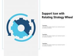 Support Icon With Rotating Strategy Wheel