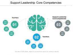 Support Leadership Core Competencies Ppt Powerpoint Presentation Infographic Template Background Cpb