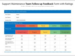 Support Maintenance Team Follow Up Feedback Form With Ratings