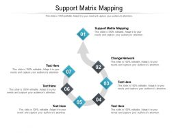 Support Matrix Mapping Ppt Powerpoint Presentation Ideas Background Designs Cpb