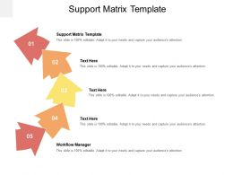 Support Matrix Template Ppt Powerpoint Presentation Professional Diagrams Cpb