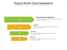 Support Model Cloud Applications Ppt Powerpoint Presentation Styles Influencers Cpb
