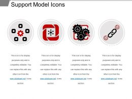 Support Model Icons Ppt Samples Download
