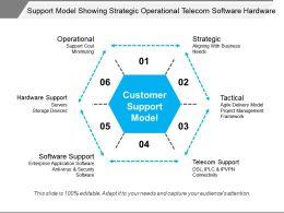 Support Model Showing Strategic Operational Telecom Software Hardware