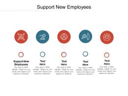 Support New Employees Ppt Powerpoint Presentation Icon Example Introduction Cpb