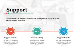 Support Ppt Slides Infographic Template