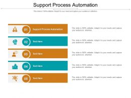 Support Process Automation Ppt Powerpoint Presentation Styles Graphics Template Cpb
