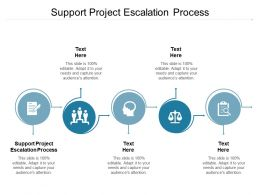Support Project Escalation Process Ppt Powerpoint Presentation Pictures Graphics Cpb