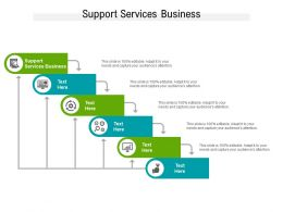 Support Services Business Ppt Powerpoint Presentation Styles Example Introduction Cpb
