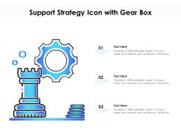 Support Strategy Icon With Gear Box