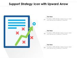 Support Strategy Icon With Upward Arrow